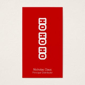 HO HO HO BUSINESS CARD
