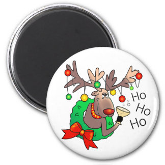 HO HO HO by SHARON SHARPE Magnet
