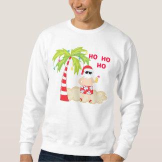 HO HO HO camiseta tropical del navidad de Santa Pullover Sudadera