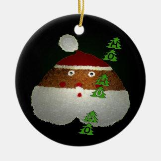 Ho-Ho-Ho Ceramic Ornament