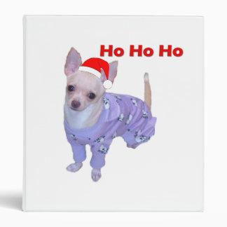 Ho Ho Ho (Chihuahua) Binder