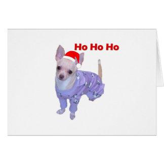 Ho Ho Ho (Chihuahua) Card