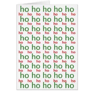 Ho-Ho-Ho Christmas Card