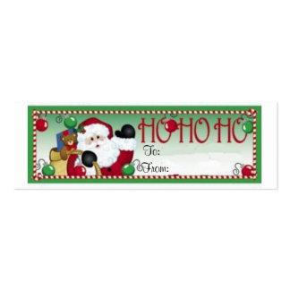 Ho Ho Ho Christmas Gift Tag Card