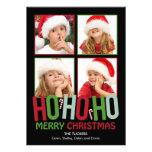 Ho Ho Ho Christmas Holiday Photo Cards Invitation