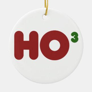 Ho ho ho christmas humor Double-Sided ceramic round christmas ornament