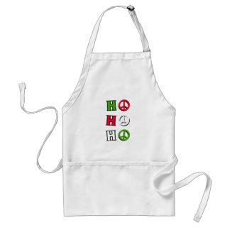 Ho Ho Ho Christmas Peace Adult Apron