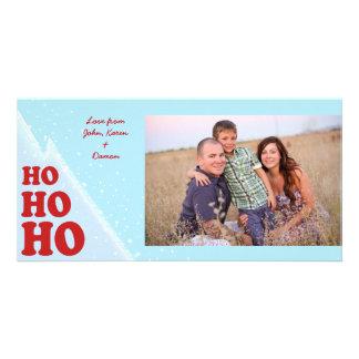 Ho-Ho-Ho Christmas Photocard Card