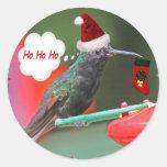 Ho Ho Ho colibrí Etiquetas Redondas