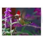 Ho Ho Ho colibrí Tarjeta De Felicitación