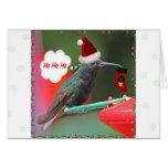 Ho Ho Ho colibrí Tarjetón