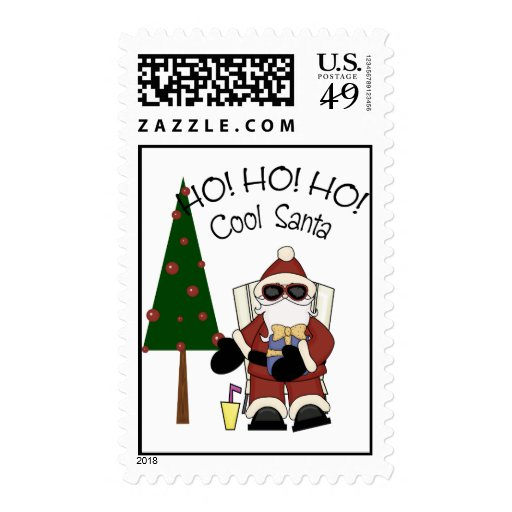 HO! HO! HO! Cool Santa Stamp