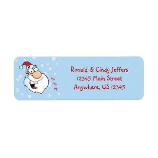 Ho Ho Ho copos de nieve de Santa Etiqueta De Remite