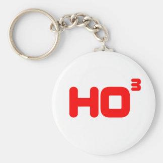 Ho Ho Ho -  Cubed - Funny Christmas Design Keychain
