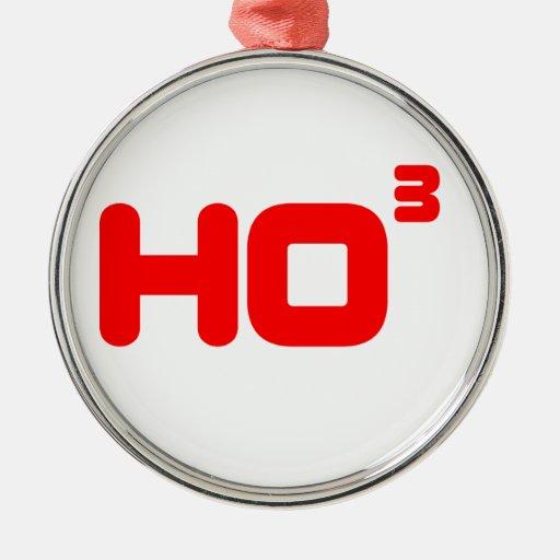 Ho Ho Ho - cubicado - diseño divertido del navidad Ornamentos Para Reyes Magos