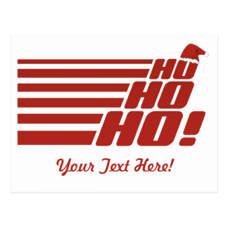Ho Ho Ho custom Xmas postcard