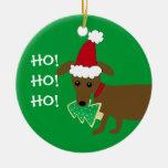 ¡HO! ¡HO! ¡HO! Dachshund del navidad Ornamentos De Reyes Magos