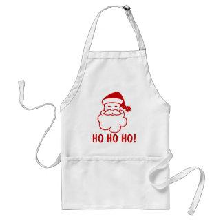 Ho Ho Ho delantales del navidad con Papá Noel