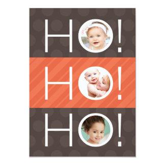 Ho Ho Ho! Double Sided 4 Photo Holiday Card