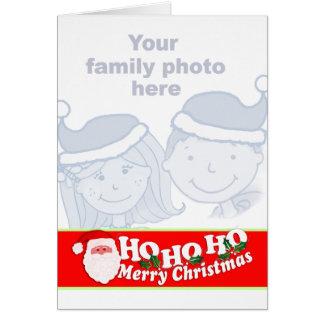 Ho Ho Ho el rojo del navidad añade su tarjeta de l