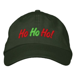Ho, Ho, Ho! Embroidered Cap Embroidered Hat