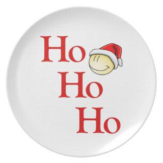 Ho - Ho - Ho -- ¡Es Santa sonriente! Platos De Comidas