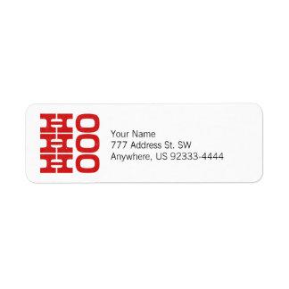 Ho Ho Ho (estilo de la prensa de copiar) Etiquetas De Remite