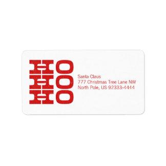 Ho Ho Ho (estilo de la prensa de copiar) Etiquetas De Dirección