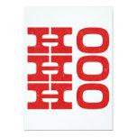 Ho Ho Ho (estilo de la prensa de copiar) Groupon Invitación 12,7 X 17,8 Cm