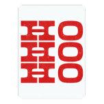 Ho Ho Ho (estilo de la prensa de copiar) Invitación 12,7 X 17,8 Cm