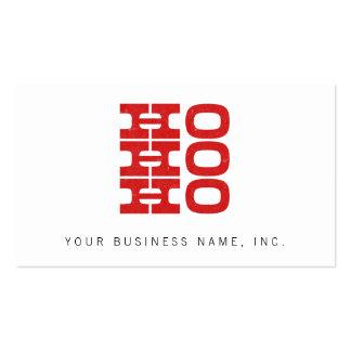 Ho Ho Ho (estilo de la prensa de copiar) Tarjeta De Visita
