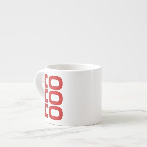 Ho Ho Ho (estilo de la prensa de copiar) Tazita Espresso