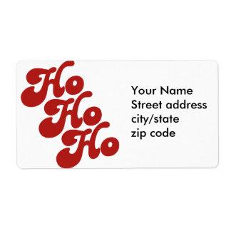 Ho Ho Ho Etiqueta De Envío