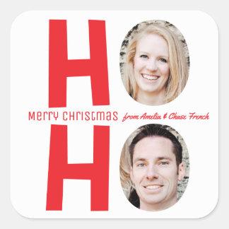 Ho Ho Ho Family Photo Christmas Sticker