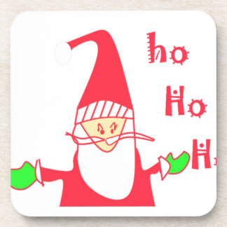 Ho Ho Ho Felices Navidad de Santa.png Posavasos De Bebidas