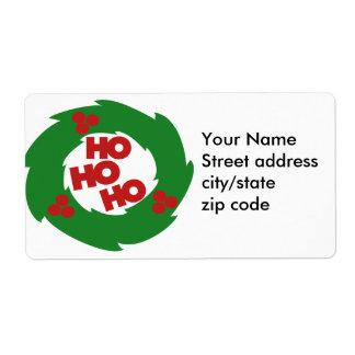 Ho Ho Ho Felices Navidad Etiquetas De Envío