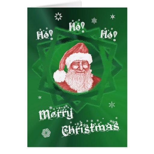 ¡Ho! ¡Ho! ¡Ho! ¡Felices Navidad! Guiño de Santa Tarjetón