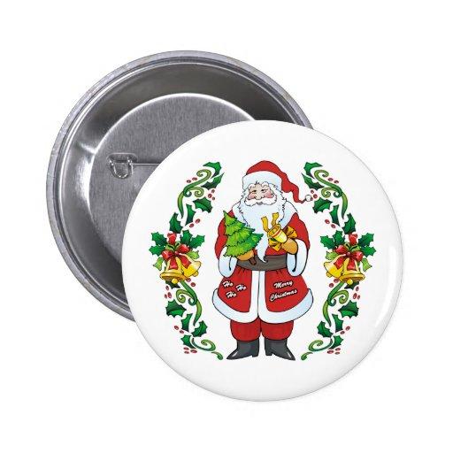 Ho Ho Ho Felices Navidad Pin Redondo 5 Cm