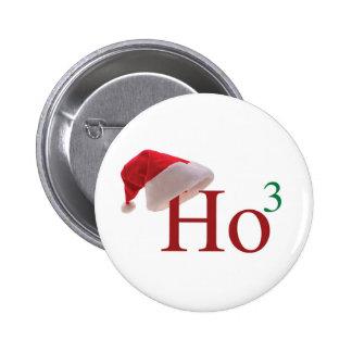 Ho Ho Ho Felices Navidad Pin Redondo De 2 Pulgadas