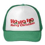 """""""Ho Ho Ho Felices Navidad"""" verdes y gorra blanco"""