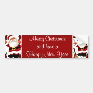 ¡Ho! ¡Ho! ¡Ho! Feliz Christmas_ Pegatina Para Auto