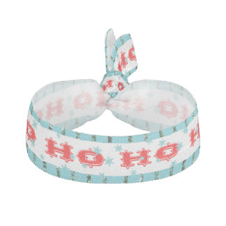 Ho Ho Ho Festive Red & Aqua Accessories Hair Tie