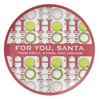 Ho Ho Ho Happy Holiday Christmas Cookies for Santa Dinner Plate