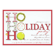 HO HO HO Happy Holiday Christmas Party Invitation