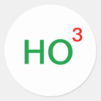 Ho Ho Ho Ho al tercer poder Pegatina Redonda