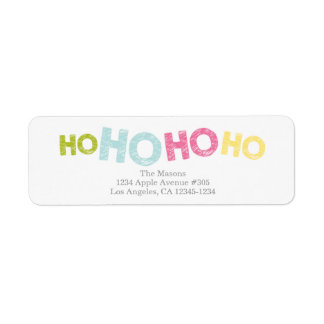 Ho Ho Ho Ho blanco del | Etiqueta De Remite