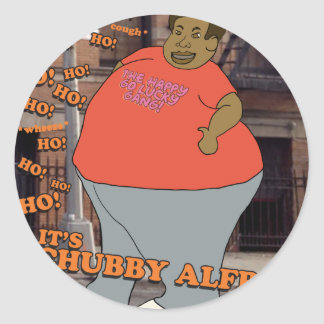 Ho Ho Ho Ho Ho It's Chubby Alfred! Stickers
