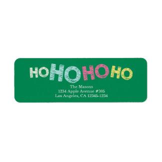 Ho Ho Ho Ho verde del | Etiqueta De Remitente