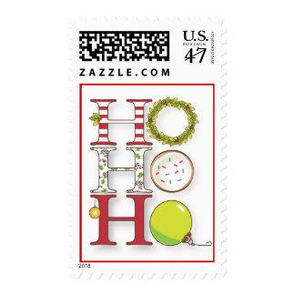 HO HO HO Holiday Christmas Stamp