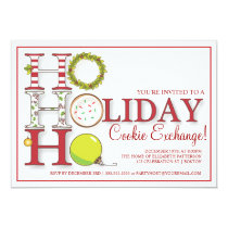 HO HO HO Holiday Cookie Exchange Party Invitation